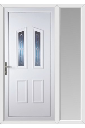 Darlington Tanzanite uPVC Door with One Sidelight