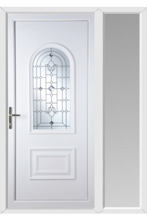 Ellesmere Port Crystal Shimmer uPVC Door with One Sidelight