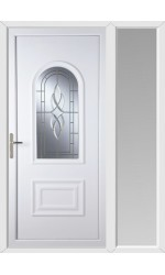 Ellesmere Port Cullingworth Bevel Border uPVC Door with One Sidelight