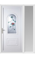 Ellesmere Port Wild Rose uPVC Door with One Sidelight