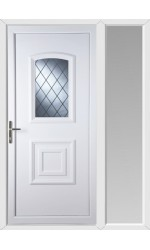 Folkestone Diamond Lead uPVC Door with One Sidelight