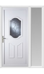 Gravesend Centre Bevel uPVC Door with One Sidelight