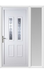 Ilkeston Clear Crystal uPVC Door with One Sidelight