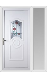 Jacobstow Trailing Rose uPVC Door with One Sidelight