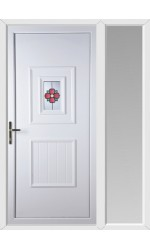 Loughborough Rosette uPVC Door with One Sidelight