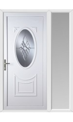 Maidenhead Bevel Cluster uPVC Door with One Sidelight