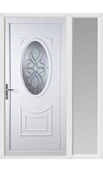 Maidenhead Ice Cluster uPVC Door with One Sidelight