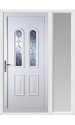 Newport Bingley Bevel uPVC Door with One Sidelight