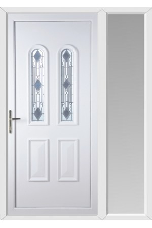 Newport Crystal uPVC Door with One Sidelight