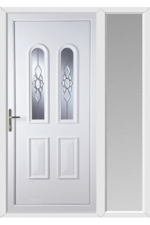 Newport Ice Cluster uPVC Door with One Sidelight