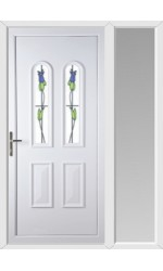 Newport Trinidad Tulip uPVC Door with One Sidelight