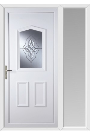 Oakham Wave Cluster uPVC Door with One Sidelight