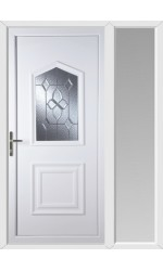 Poole Bevel Cluster uPVC Door with One Sidelight