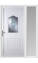 Poole Coloured Bevel uPVC Door with One Sidelight