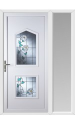 Poole Primrose 2 Glazed Apertures uPVC Door with One Sidelight
