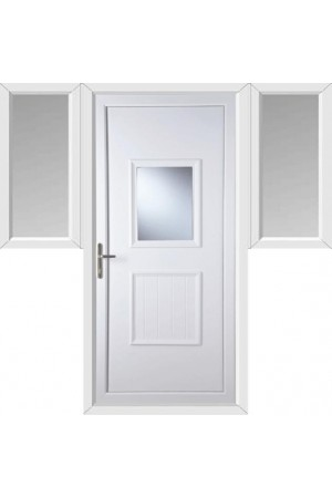 Loughborough Large Glazed uPVC Door with Two Flags
