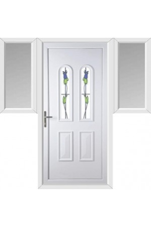 Newport Trinidad Tulip uPVC Door with Two Flags