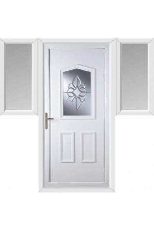 Oakham China Cluster uPVC Door with Two Flags