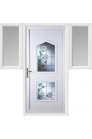 Poole Primrose 2 Glazed Apertures uPVC Door with Two Flags