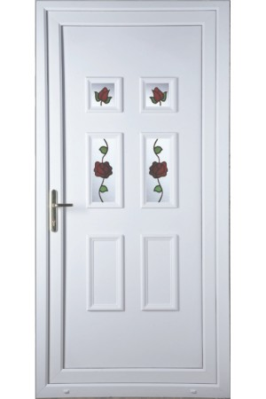 Ashford Creeping Rose uPVC Door