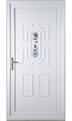 Colchester Single Rose uPVC Door