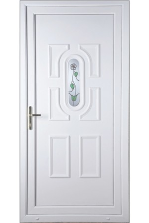 Colchester White Rose uPVC Door