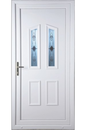 Darlington Sandblast Bevel uPVC Door