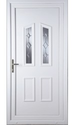 Darlington Star Cut Bevel uPVC Door