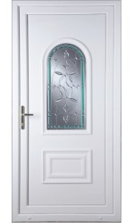 Ellesmere Port Diamond Green Border uPVC Door