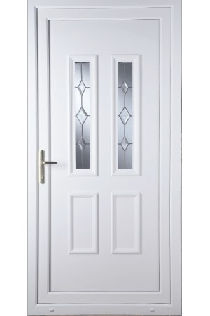 Ilkeston Star Cut Bevel uPVC Door
