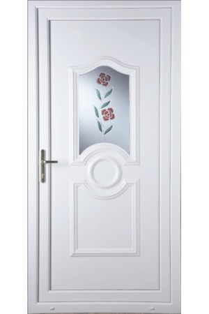 Jacobstow Clear Resin Rose uPVC Door