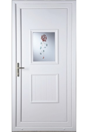 Loughborough Resin Rose uPVC Door
