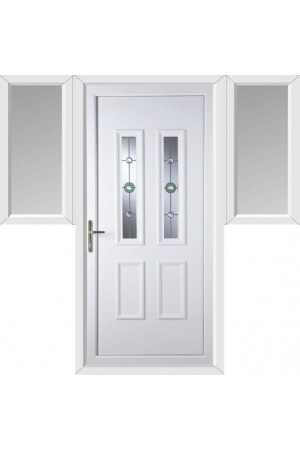 Ilkeston Golf Bevel uPVC Door with Two Flags