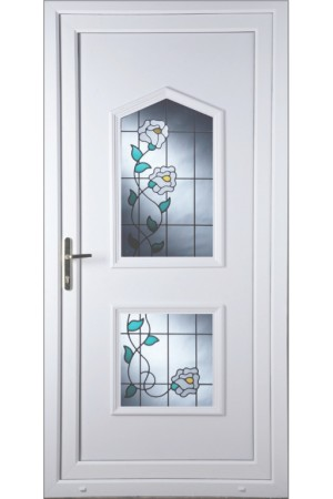 Poole Primrose 2 Glazed Apertures uPVC Door