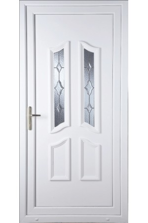 Rotherham Star Cut Bevel uPVC Door
