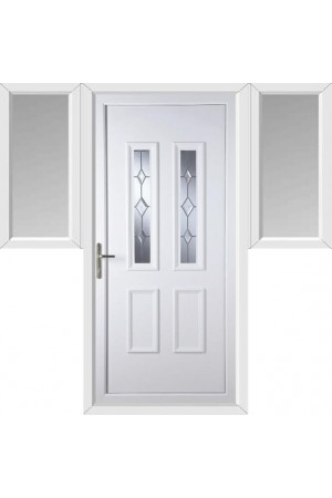 Ilkeston Star Cut Bevel uPVC Door with Two Flags
