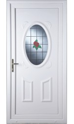 Swansea Single Rose uPVC Door