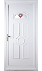Viewpark Red Jewel uPVC Door