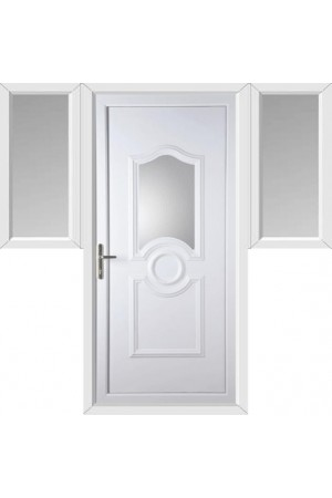 Jacobstow Clear Glazed uPVC Door with Two Flags