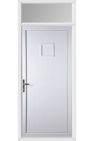 Telford Back Door Solid uPVC Door with Toplight