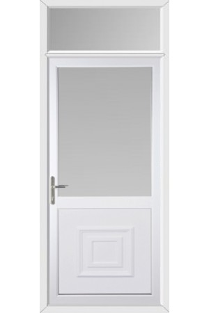 Kings Lynn Half Raised Panel uPVC Door with Toplight