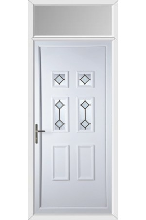 Ashford Diamond Bevel uPVC Door with Toplight