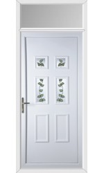 Ashford Rose Vine uPVC Door with Toplight