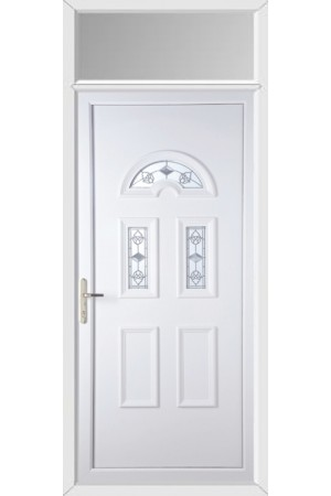 Blackburn Crystal Tulip uPVC Door with Toplight
