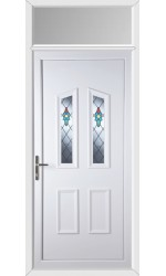 Darlington Bell Flower uPVC Door with Toplight