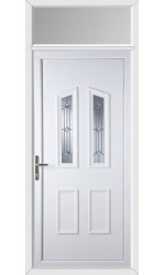 Darlington Georgian Bevel uPVC Door with Toplight