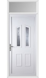Darlington New Silver uPVC Door with Toplight
