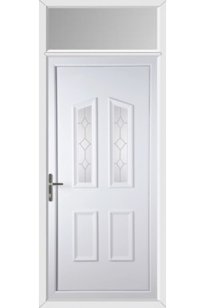 Darlington Queen Anne uPVC Door with Toplight