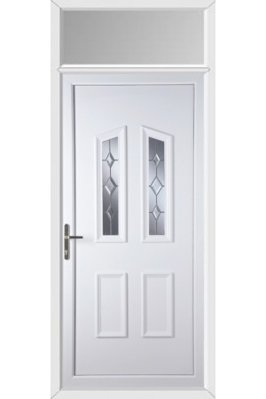 Darlington Star Cut Bevel uPVC Door with Toplight