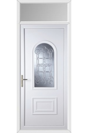 Ellesmere Port Coyle uPVC Door with Toplight
